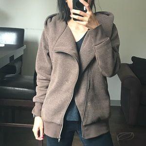 Jackets & Blazers - Asymmetrical Zip Up Hoodie